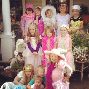 Tea Party, fun, Priness dresses, hats, Myrtle Creek, Or., Tea Room, I-5, The Painted Lady