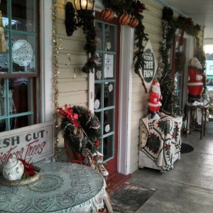 Stroll along the porch and take in the spirit of the season right off I-5 in Southern Oregon -
