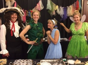 Wendy, Tinkerbell and Captain Hook join Peter Pan!