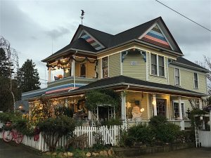 The Painted Lady is home to our Bed & Breakfast and Tea Room.