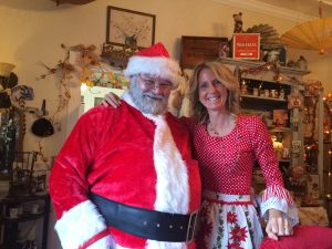 Santa visits The Painted Lady
