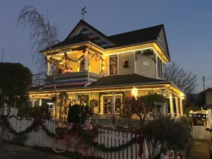 Painted Lady Christmas 2017 twilight